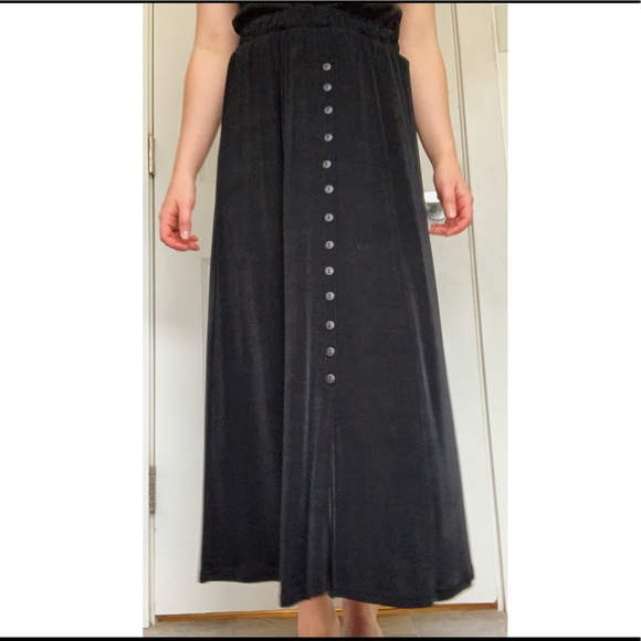 Western Connection Dresses & Skirts - Button Down Black Skirt